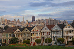 Six Sisters Houses at Alamo Square of SanFrancisco Stock Images