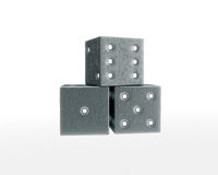 Six-six dice Royalty Free Stock Image