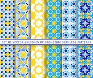 Six  sketches of geometric pattern Stock Photo