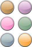 Six soft-colored web buttons Royalty Free Stock Image