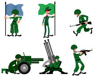 Six soldiers set Royalty Free Stock Images