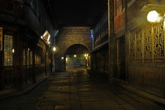----- Six southern town of Wuzhen Water Village alley the night Stock Image