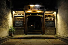 ----- Six southern town of Wuzhen Water Village alley the night Royalty Free Stock Images