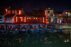 ----- Six southern town of Xitang night Stock Images