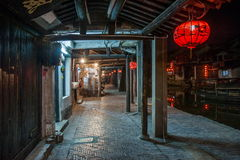 ----- Six southern town of Xitang night Stock Image