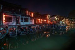 ----- Six southern town of Xitang night Royalty Free Stock Photo