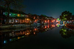----- Six southern town of Xitang night Royalty Free Stock Photography