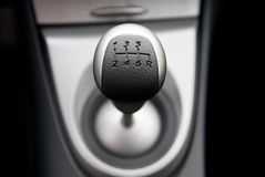 Six speed gear stick Stock Photography