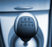 Six speed gear stick Stock Photos
