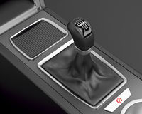Six speed gear stick Stock Image