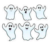 Six Spooky Halloween ghosts Stock Image
