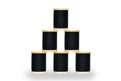 Six spool of thread Royalty Free Stock Images