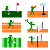 Six Sports Symbol Set Vector Stock Images