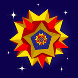 Six star polyhedrons Royalty Free Stock Images