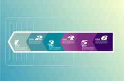 Six steps arrows for presentations. Stock Images