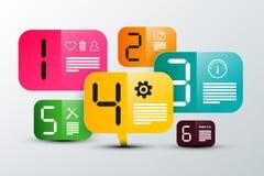 Six Steps Infographic Creative Design. stock illustration