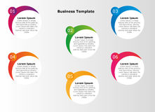Six steps infographics. For business Royalty Free Stock Images