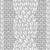 Six-Stitch cable stitch. Stock Photo