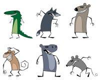 Six strange animals Royalty Free Stock Photos