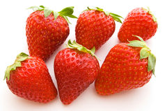 Six strawberries Royalty Free Stock Photography