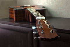 Six-string acoustic guitar Royalty Free Stock Images