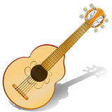 Six string ,acoustic guitar . Vector illustration . Musical instrument . Six string ,acoustic guitar . Vector illustration  Musical instrument Royalty Free Stock Image