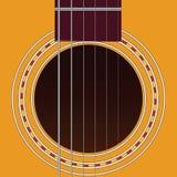 Six-string guitar Royalty Free Stock Photos