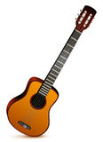 Six stringed acoustic guitar musical instrument Stock Photos