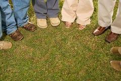 Six students stood outdoors Stock Image