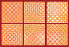 Six Symmetrical Pattern 3. Six variant octagonal pattern this pattern is Arabic style in symmetrical ornament. This Pattern beautiful in use to Wall Paper Stock Photo