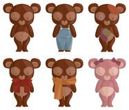 Six Teddy Bears Stock Image