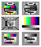 Six television test screen Royalty Free Stock Photos