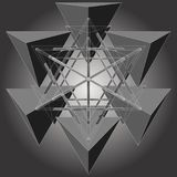 Six Tetrahedron Make Star Geometric Vector Royalty Free Stock Images