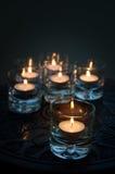 Six Thé-lumières Images stock