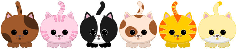Six tiled litle cats Royalty Free Stock Photo