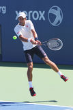 Six times Grand Slam champion Novak Djokovic practices for US Open 2014 Stock Photos