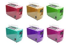 Six toasters Stock Images