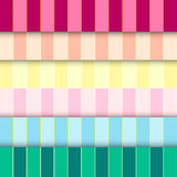 Six tone, six patterns and backgrounds. Vector illustration Royalty Free Stock Image