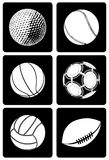 Six Type of Sport Ball Royalty Free Stock Images