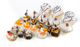 Six types of cakes Royalty Free Stock Image