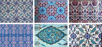 Oriental Tiles. The six types of tiles in mosques in turkey Royalty Free Stock Image