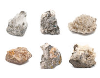 Six Unique rocks Royalty Free Stock Image