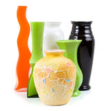 Six vases Stock Photography
