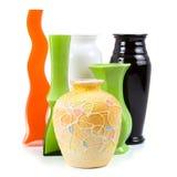 Six vases. Isolated on white background Stock Photography