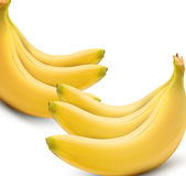 Six vector bananas on white background Stock Photos