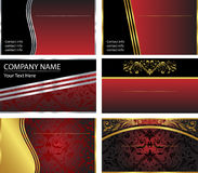 Six Vector Business Card Templates. A set of six corporate, elegant business card background templates in format vector illustration