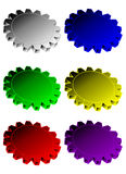 Six vector gears Stock Image