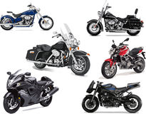 Six vector illustrations of motorcycle Royalty Free Stock Photography