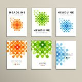 Six vector pattern with abstract figures brochures Stock Images