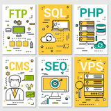 Six vertical banners of programming concepts Stock Images